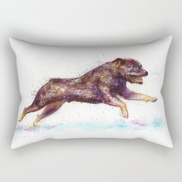 Dog watercolor Rectangular Pillow