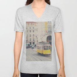 city trams ...  Unisex V-Neck