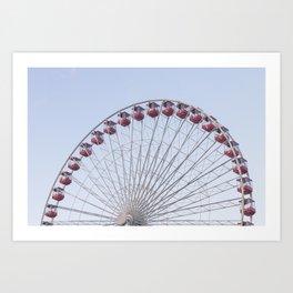 On the Ferris Wheel Art Print