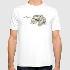 Flying Swan Mens Fitted Tee MEDIUM White