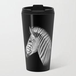 Monochrome Zebra Portrait Travel Mug