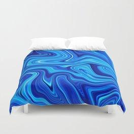 Ocean blue marble Duvet Cover