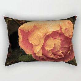 Rose on a sad day Rectangular Pillow