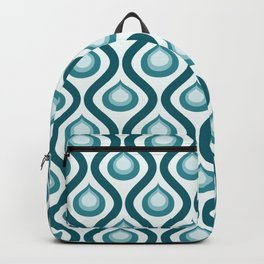 Abstract Peacock - Teal Color Vintage Pattern Backpack