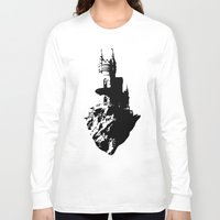 castle Long Sleeve T-shirts featuring Castle by Julia Badeeva