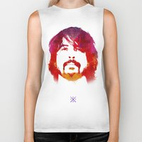 dave grohl Biker Tanks featuring D. Grohl by Fimbis