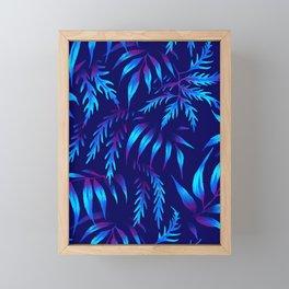 Brooklyn Forest - Blue Framed Mini Art Print