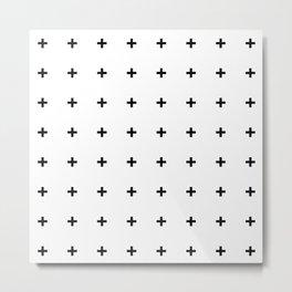 Black Plus on White /// www.pencilmeinstationery.com Metal Print