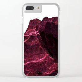 Epic DARKRED Rocks Mountain Design Clear iPhone Case