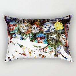 Graffiti Luchadores Rectangular Pillow
