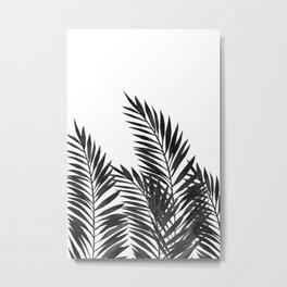 Palm Leaves Black Metal Print
