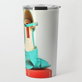 Books and Shoes Travel Mug