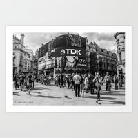 Shadow city  Art Print