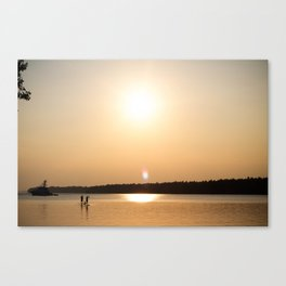Paddle Into The Sunset Canvas Print