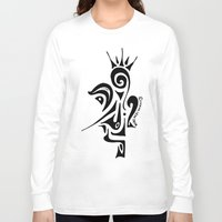 crown Long Sleeve T-shirts featuring Crown by Dror Designs