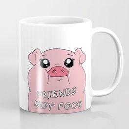 Friends Not Food - Cute Pig Coffee Mug