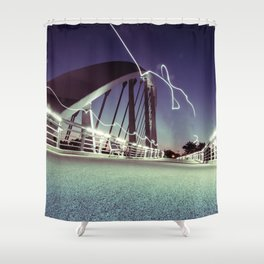 Electric Bridge - Columbus, OH Shower Curtain