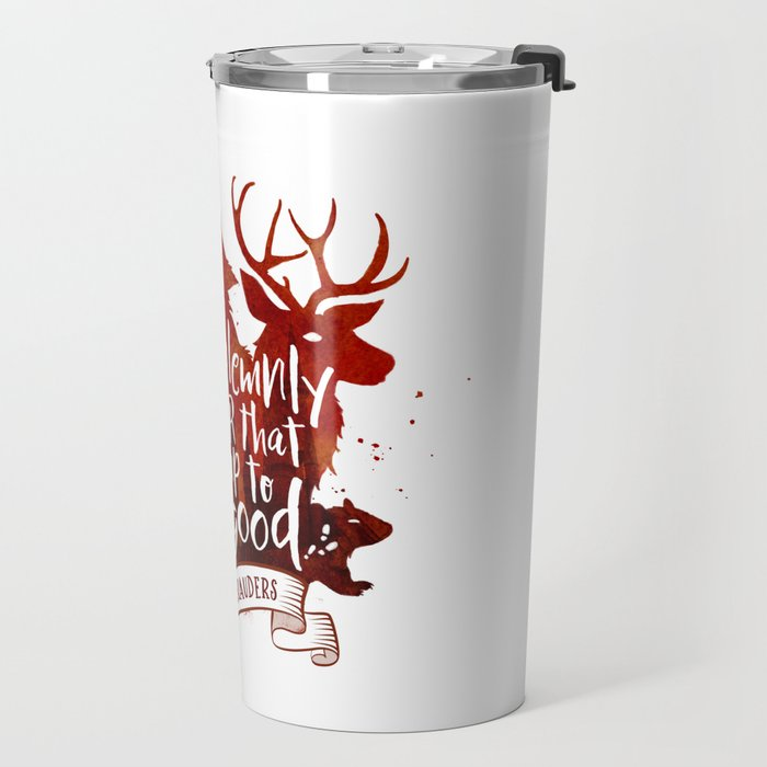 I solemnly swear - white Travel Mug