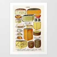 cheese Art Prints featuring CHEESE by Kathead Tarot/David Rivera