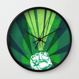 Green Lantern's light Wall Clock