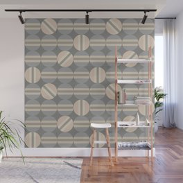 Hemispheres in Pink and Taupe Wall Mural