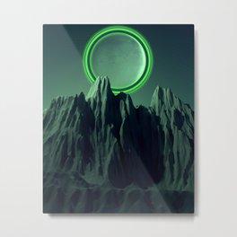 Green Evening Metal Print