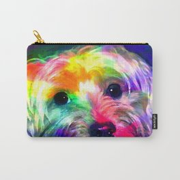 Colorful Yorkie By Annie Zeno  Carry-All Pouch