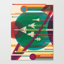 Space Ships Pop Art Vintage Canvas Print