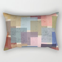 Vintage Colorful Squares Rectangular Pillow