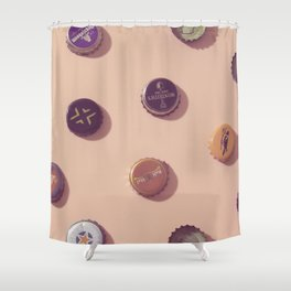 #02#Beercaps#vintage#collection Shower Curtain