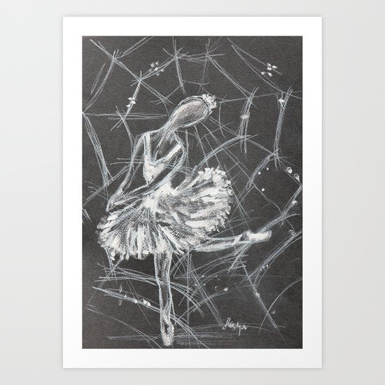 Caught in a web Art Print