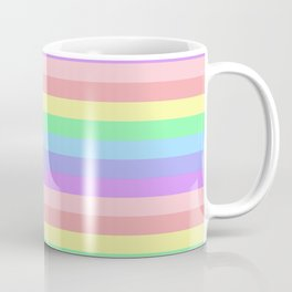 Light Rainbow Stripes Coffee Mug