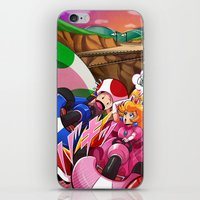 mario kart iPhone & iPod Skins featuring MARIO KART - YOSHI VALLEY by D.J. Kirkland