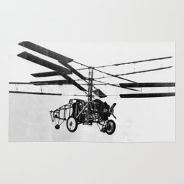 Helicopter Invention Rug