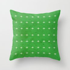 Green cross Throw Pillow