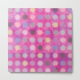 Colorful Sun Pattern II Metal Print