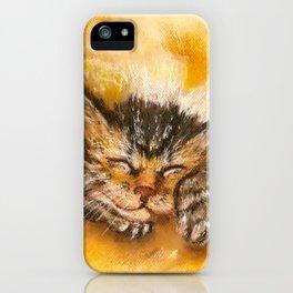 Sleepy Kitten iPhone Case
