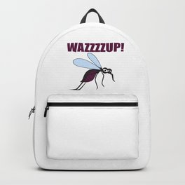 Mosquito Wazzup Insect Comic Saying Funny Blood Sucker Gift idea Backpack