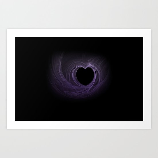 Purple Heart Art Print