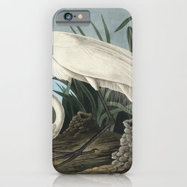 White Heron from Birds of America (1827) by John James Audubon etched by William Home Lizars iPhone Case