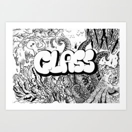 It rains squids... Art Print