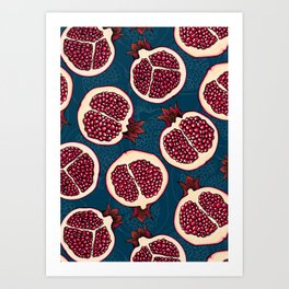 Pomegranate slices Art Print