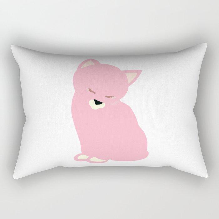 cat pink Rectangular Pillow