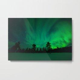 Aurora over Sami Country Metal Print