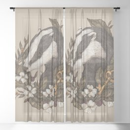 Badger Sheer Curtain