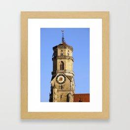 Hauptturm der Stiftskirche in Stuttgart Framed Art Print