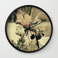 ladybug Wall Clocks featuring Ladybug by Truly Juel