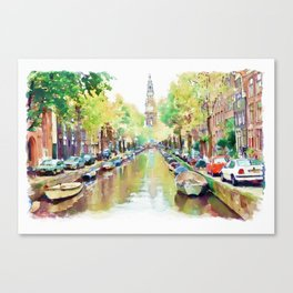 Amsterdam Canal 2 Canvas Print