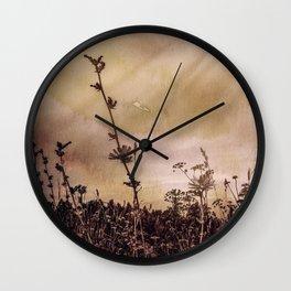 Last flowers of autumn Wall Clock