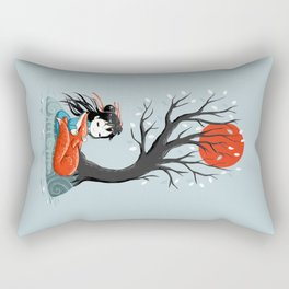 Girl and a Fox 2 Rectangular Pillow